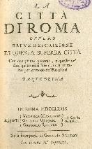 frontespizio - La città di Roma [...]